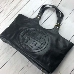 Tory Burch Bomber Leather Tote Bag